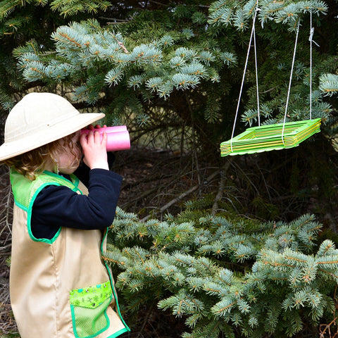Bird Feeder and Binoculars DIY Pretend Play Project