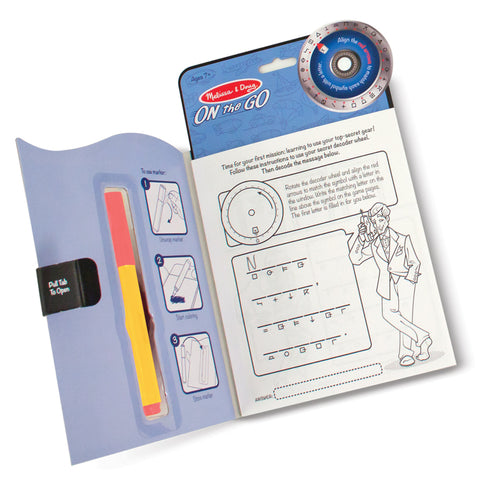 Spy Secret Decoder Activity Book