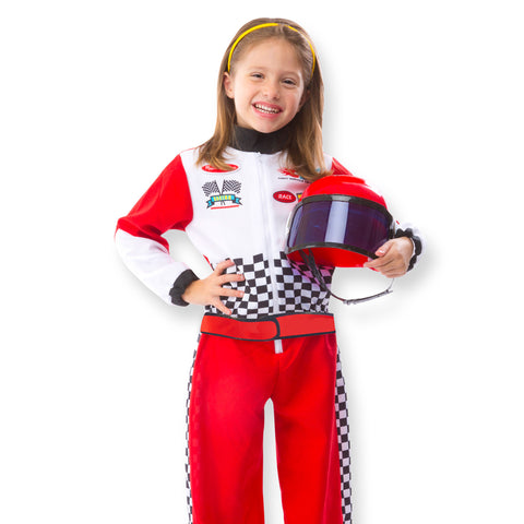 Race Car Driver Costume Pretend Play Set