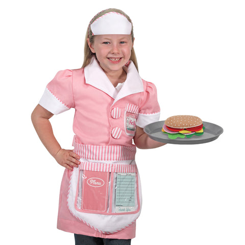 Waitress Costume Pretend Play Set