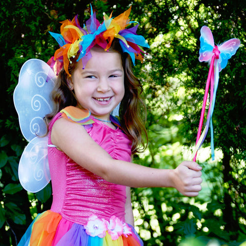 Rainbow Fairy Halo and Wand Set