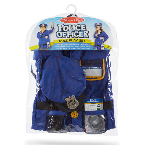 Police Officer Costume Pretend Play Set
