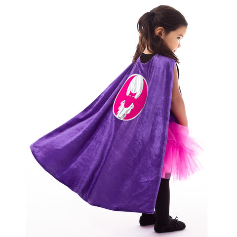 Purple Superhero Bat Cape
