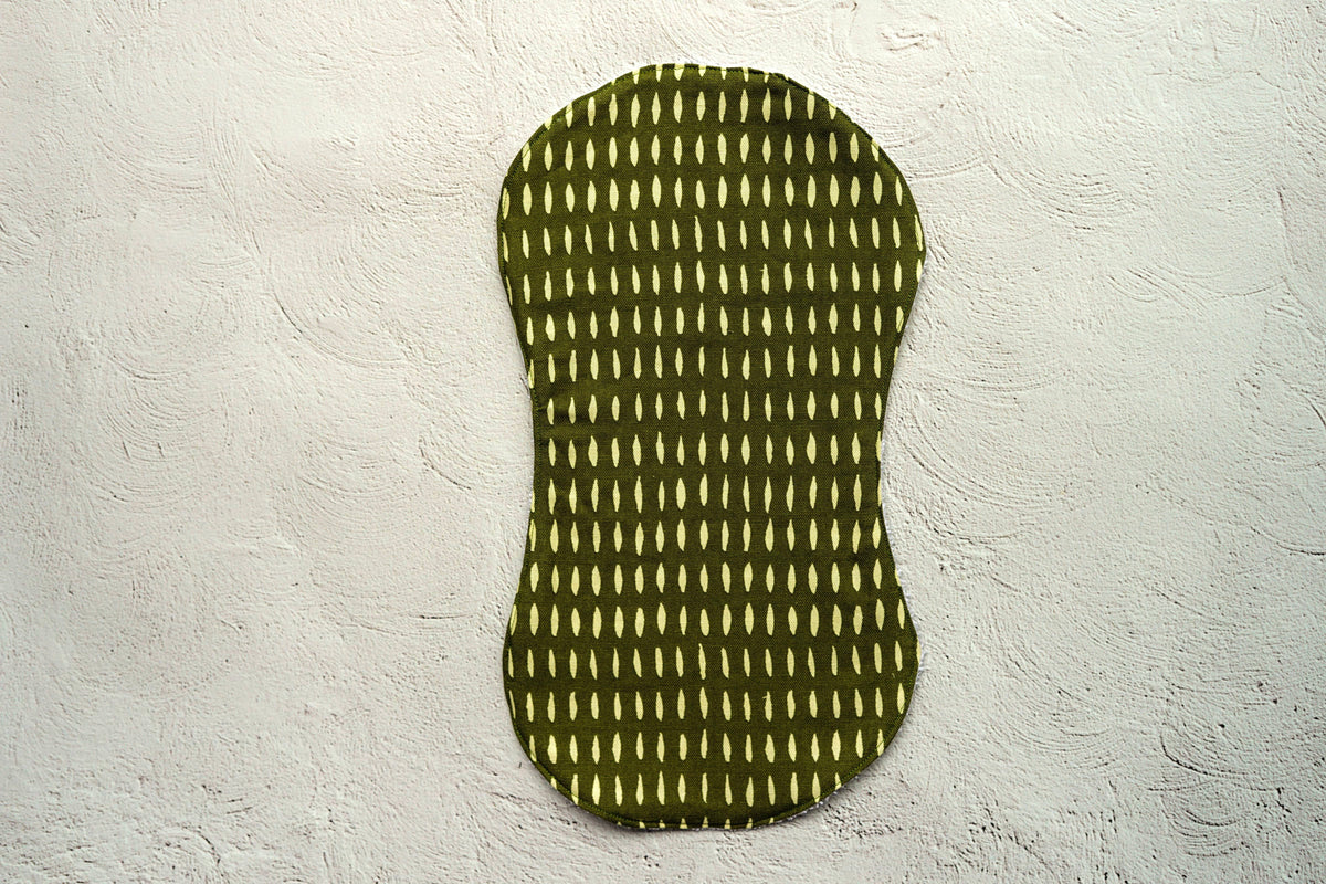 Olive and White Stripe Burp Cloth