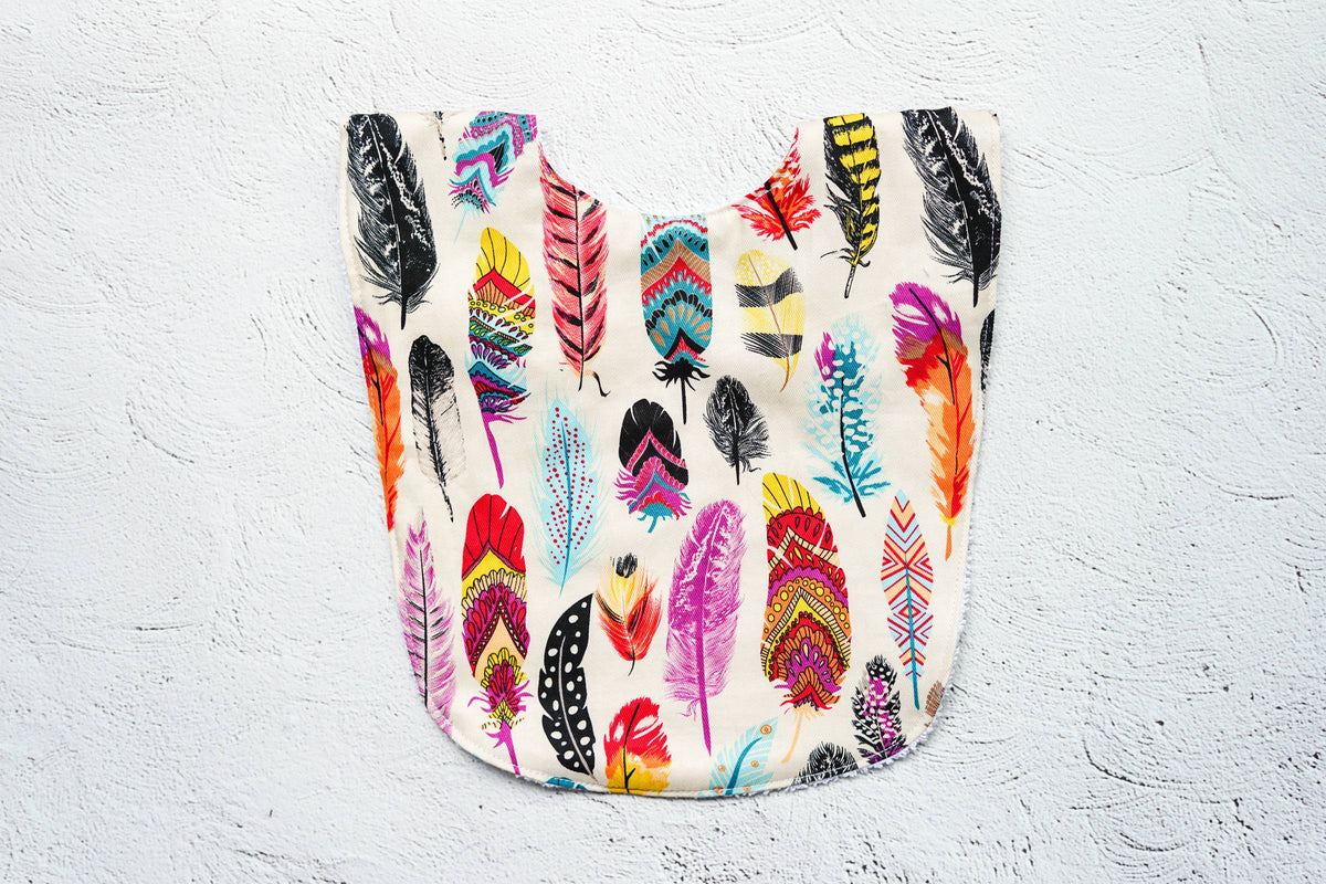 Feather Big Bib