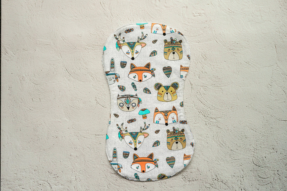Tribal Animal Burp Cloth