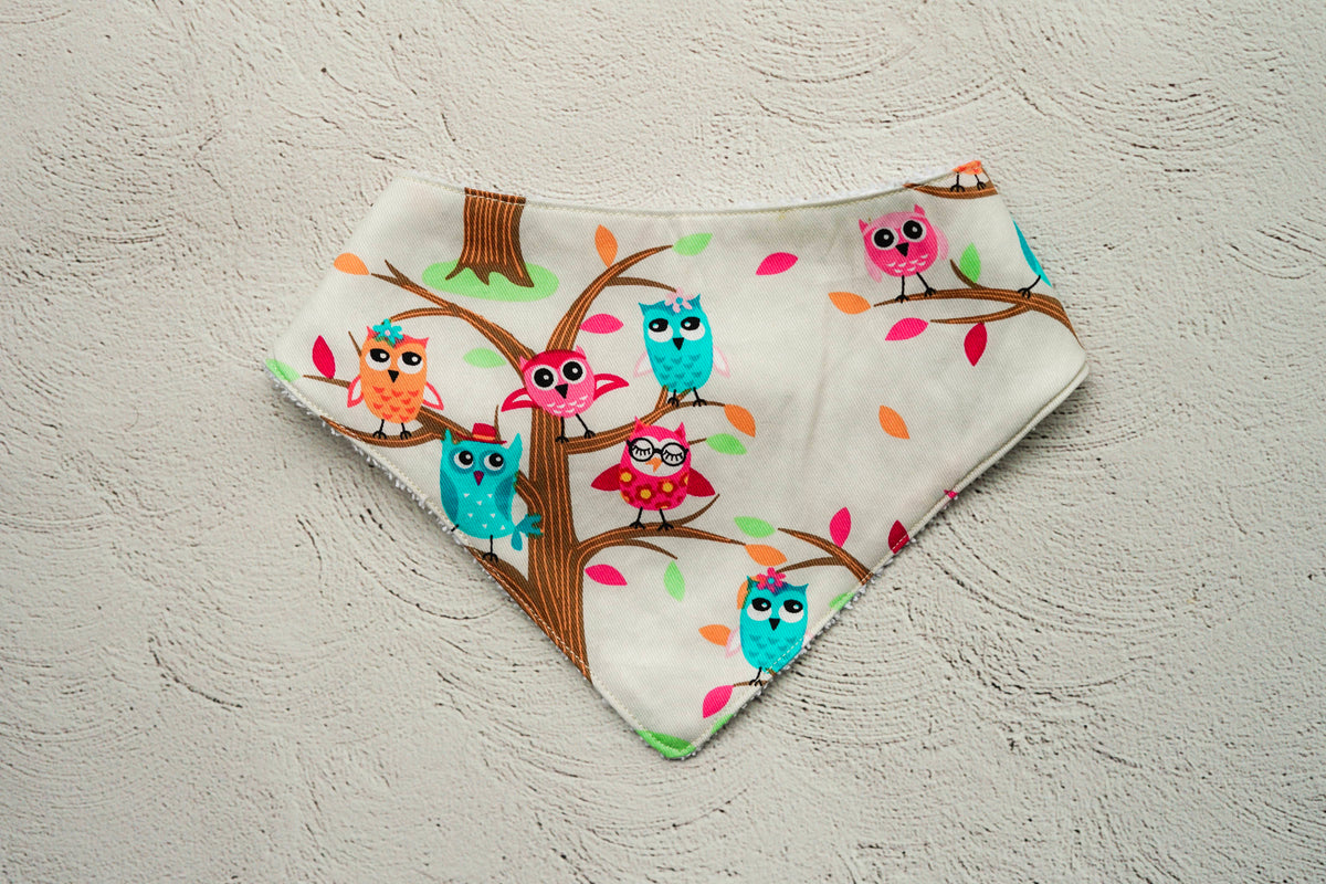 Hooting Owl Dribble Bib
