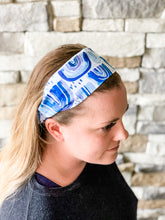 Load image into Gallery viewer, Blue Flower Headband