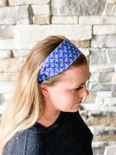 Load image into Gallery viewer, Blue Floral Headband