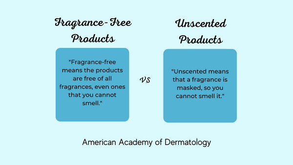The American Academy of Dermatology recommends fragrance-free products.