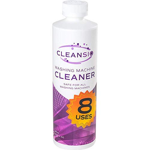 Cleansio Washing Machine Cleaner – Residue Destroyer and Odor Eliminator, 8 Uses per Bottle, 16oz