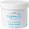 Cleansio Foaming Hand Soap (10 Tablets) – Fragrance Free, Dye Free, Economical, Easy To Use, Eco-Friendly