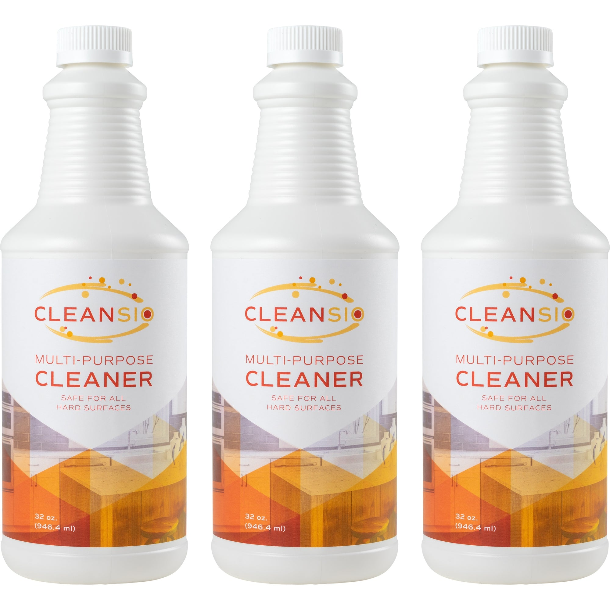 Cleansio Multi-Purpose Cleaner 3 Pack – Fragrance Free, Cleans Most Hard Surfaces, 32oz - 3 Pack