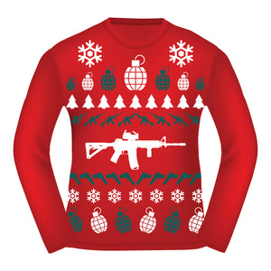 Long Sleeve Tactical Ugly Christmas Shirt