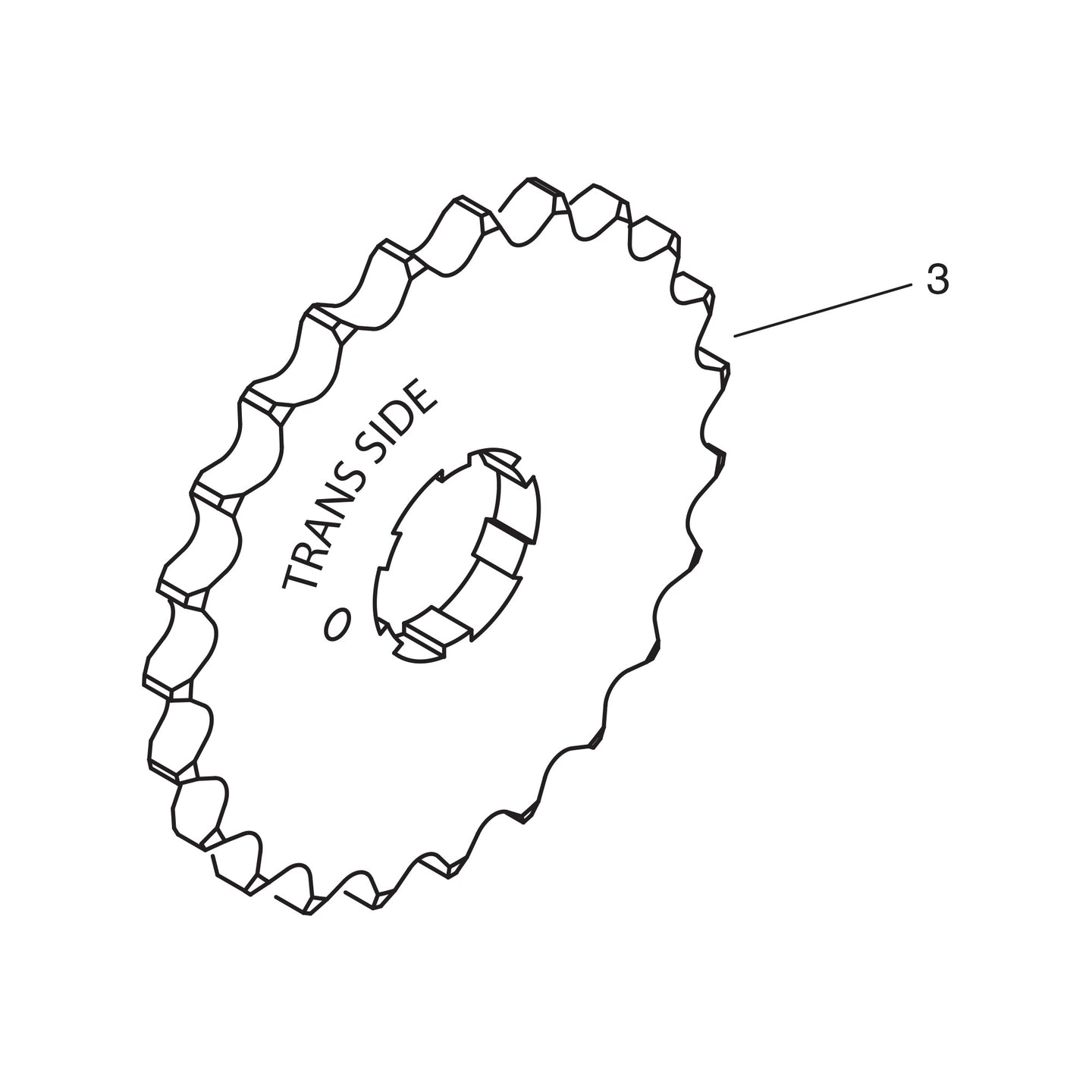 22T Output Sprocket