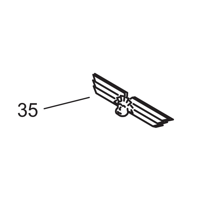 Chrome Wing Insignia