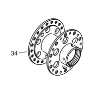 Complete Hub with Axle Bearing Support