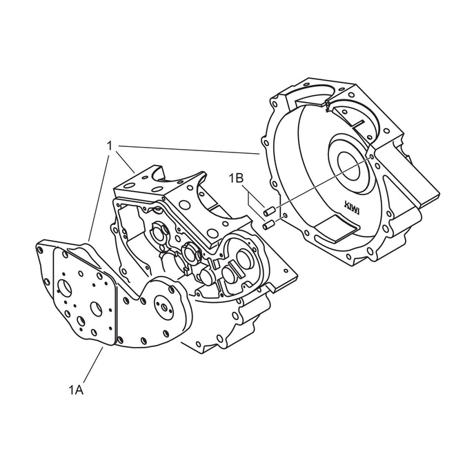 Crankcase with Cam Cover