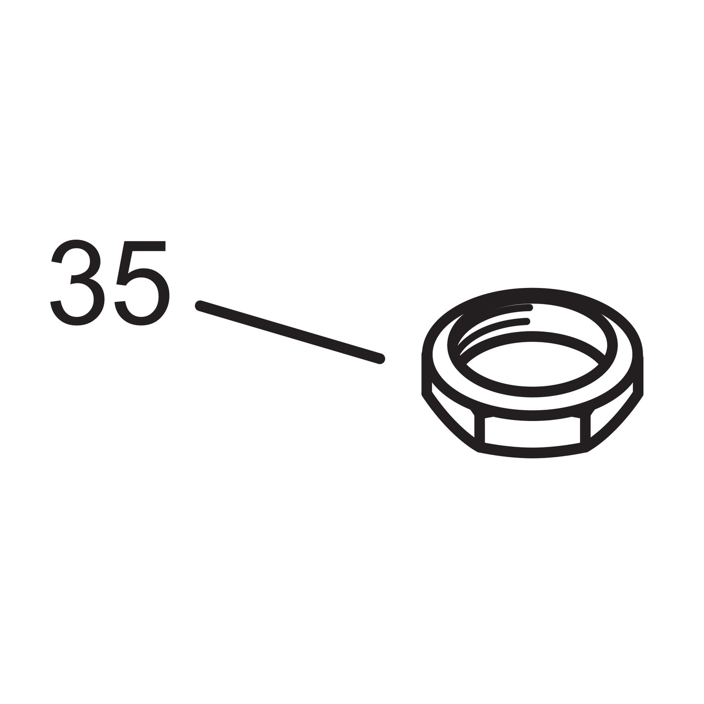 Elbow Lock Nut - Oil Pump