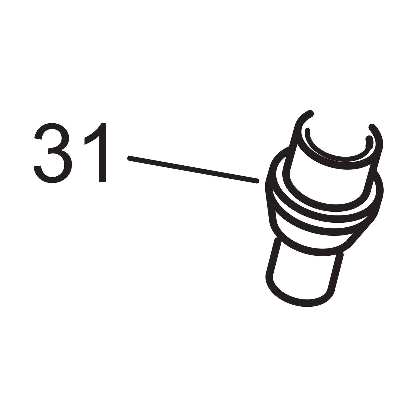 Feed Line Cone - 3/8