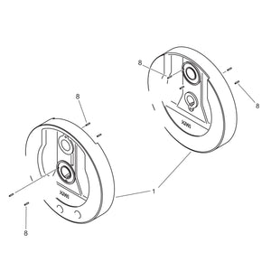 "Flywheels for 80"" - Pair"