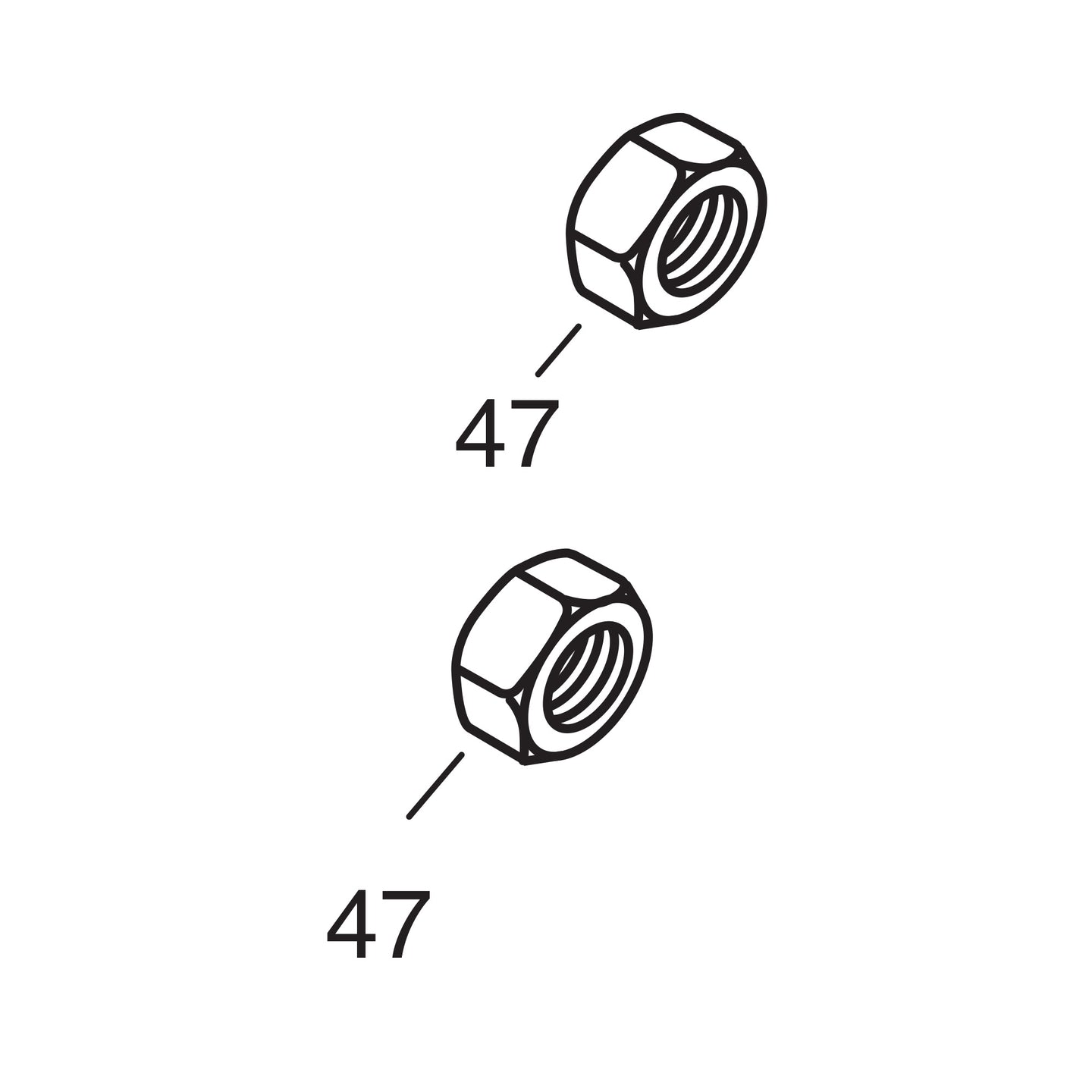 Front Axle Nut - 1937-45 Models