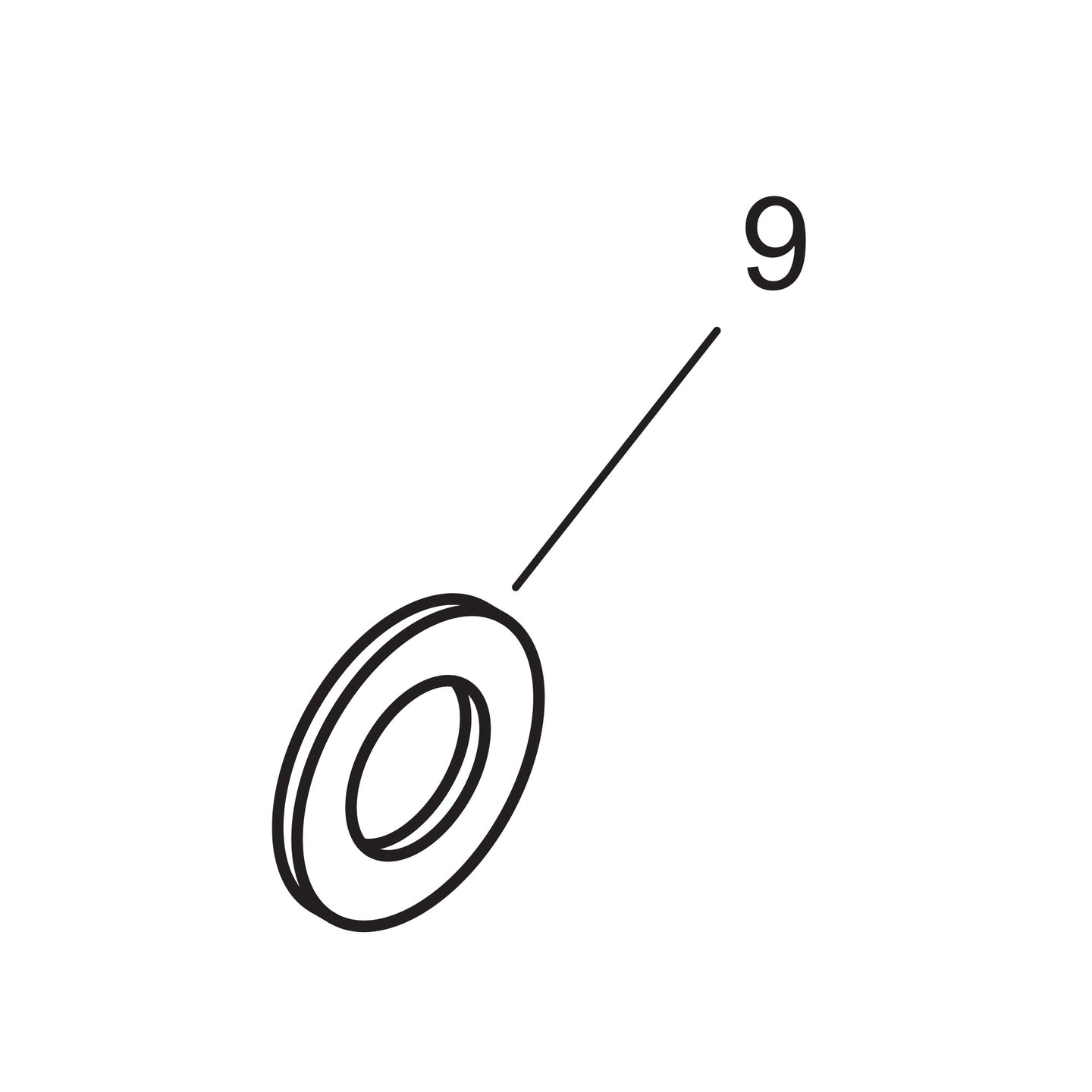 Rear Axle Bearing Support Flat Washer - 1937-39 Models