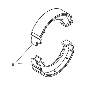 Relined Rear Brake Shoes - 1940-42 Models