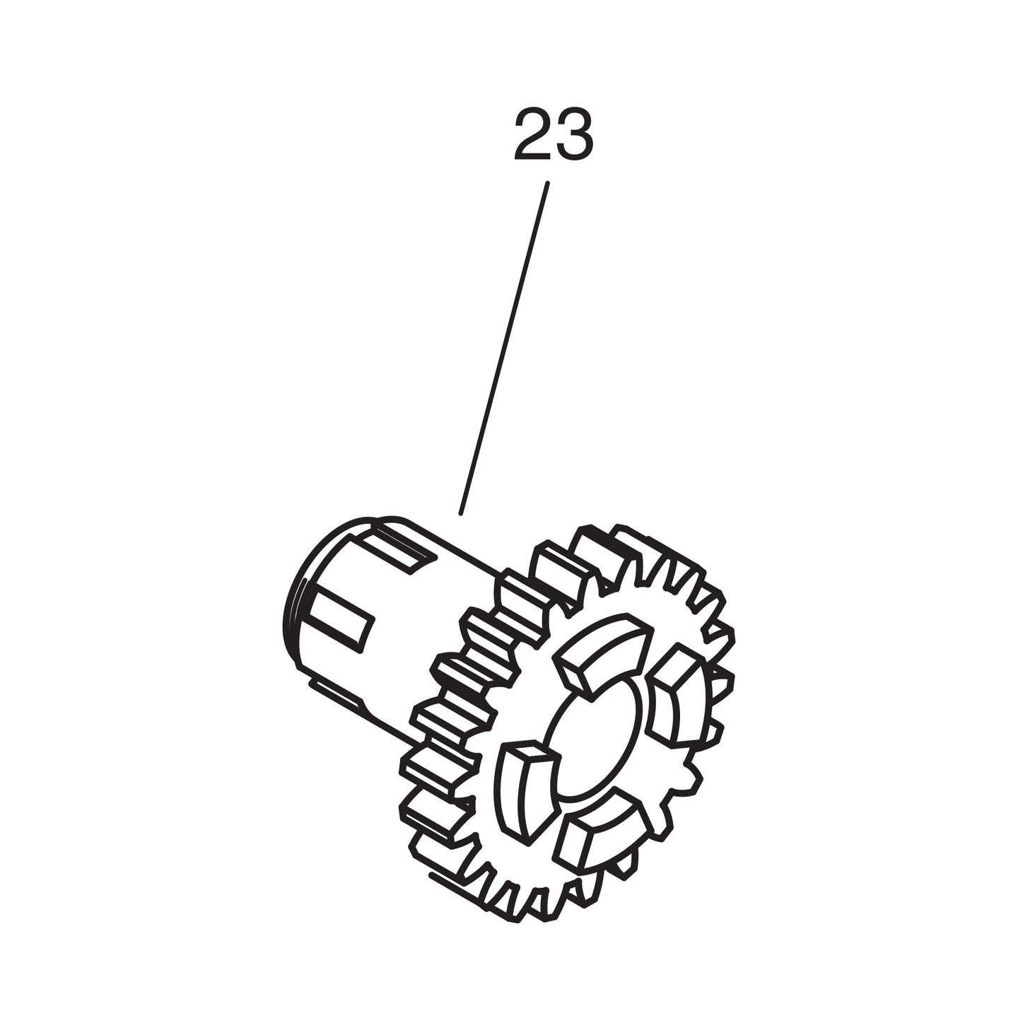 Sprocket Driver with Bushing - Gear 1940-53