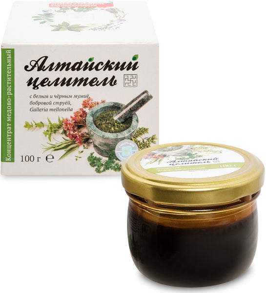 "Herbal balm ""Healer of Altai"" with white and black mumijo, 100 g"