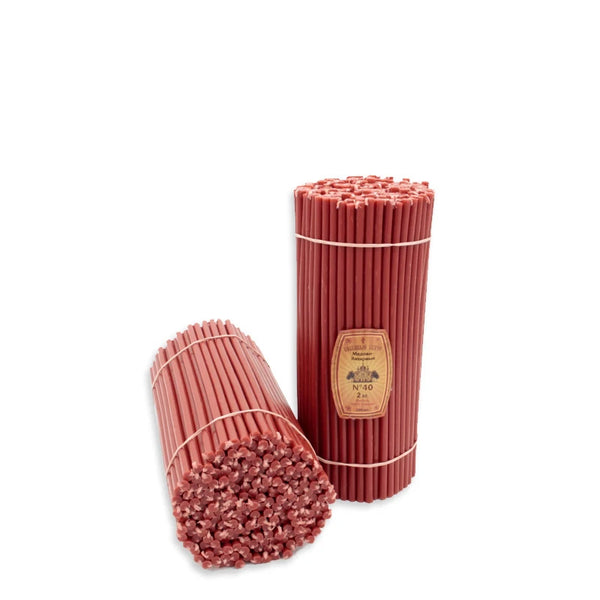 "Diveevo Church candles ""Red"" 0.5 kg N40, 50 pc"
