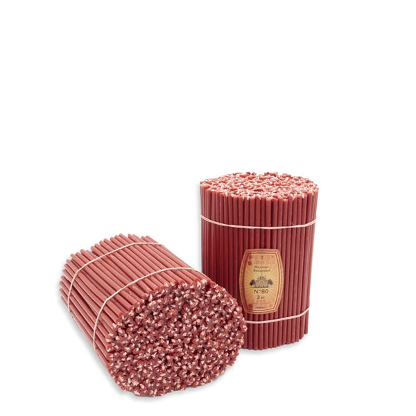 "Diveevo Church Candles ""Red"" 500 g N80, 100 pc"