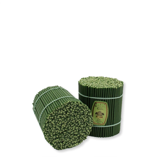 Church beeswax candles Diveevo «Green» 1 kg pack N100, 250 pieces.