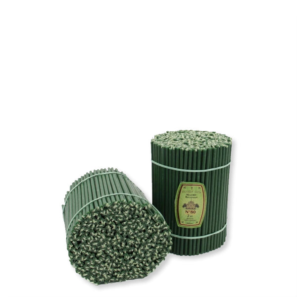 Diveevo Green Beeswax Church Candles 1 kg N80, 200 pcs