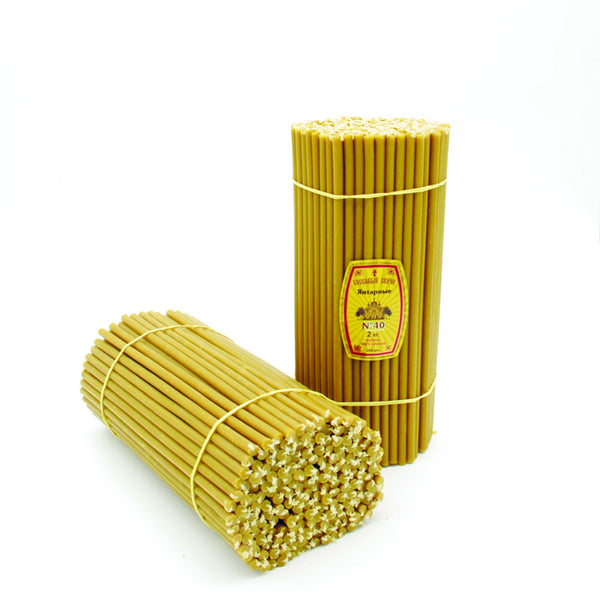 Church beeswax candles Diveevo «Jantarnie» 500 g pack N40, 50 pcs..