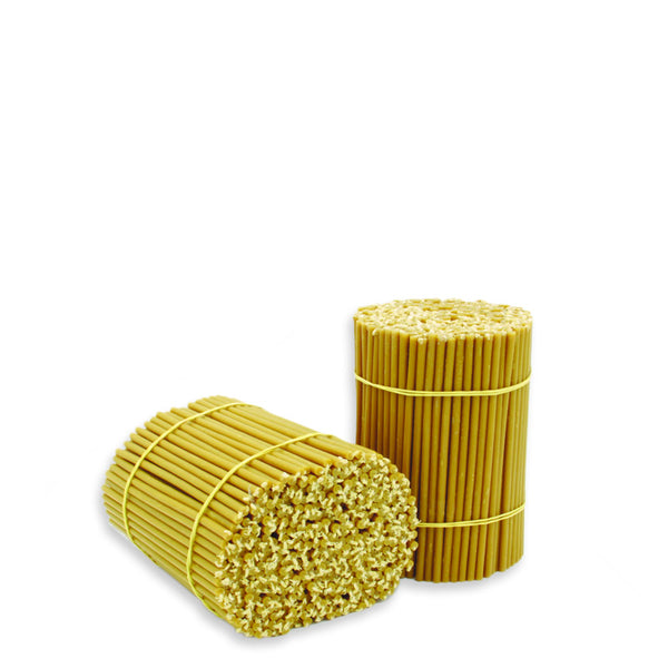 "Diveevo Beeswax Church Candles  ""Amber"" 500 g  N80, 100 pcs"