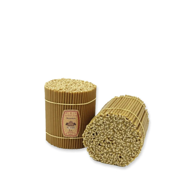 "Diveevo Beeswax Church Candles  ""Honey"" 1 kg N140, 350pcs"