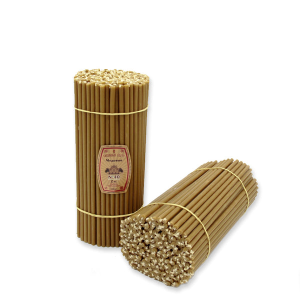 "Diveevo Beeswax Church Candles  ""Honey"" 1 kg N40, 100pcs"