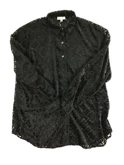 Sheer Velvet Button-up, Signature Expressions (Unknown)