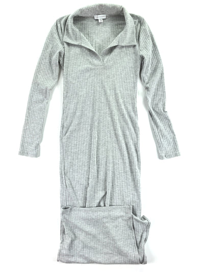 Gray Ribbed Midi-Dress, Topshop (4)