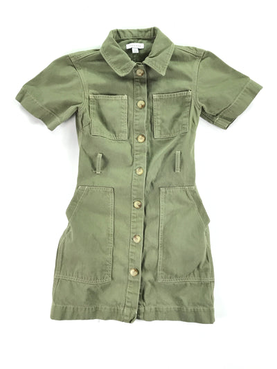 Military Green Denim Dress, Topshop (0)