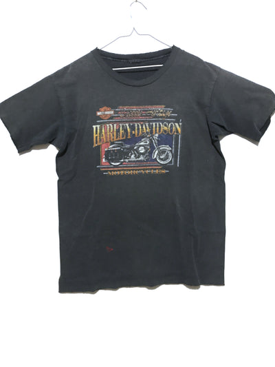 Thrashed and Faded Vintage Single Stitch Tee, Harley-Davidson (L)