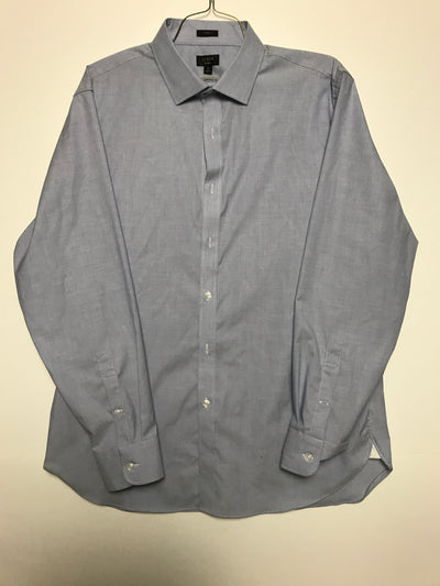 17H 36 Slim ludlow stretch two-ply easy-care cotton dress shirt, Jcrew (XL)