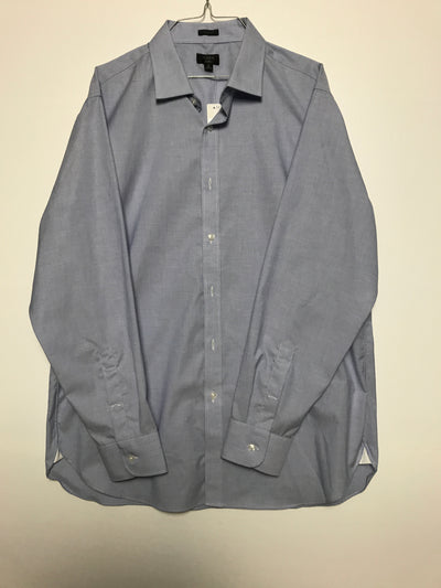 17 35 - Classic Fit  ludlow stretch two-ply easy-care cotton dress shirt, J. Crew (XL)