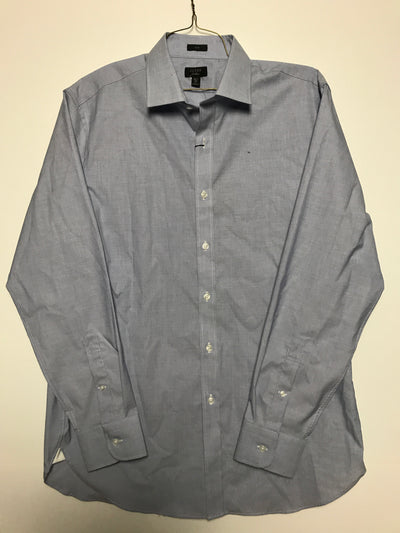 16 35 - ludlow stretch two-ply easy-care cotton dress shirt, J. Crew (L)