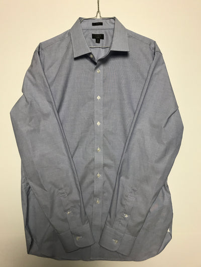 16H 36 - Slim ludlow stretch two-ply easy-care cotton dress shirt, J. Crew (L)