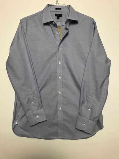 16 34 - Slim ludlow stretch two-ply easy-care cotton dress shirt, J. Crew (L)