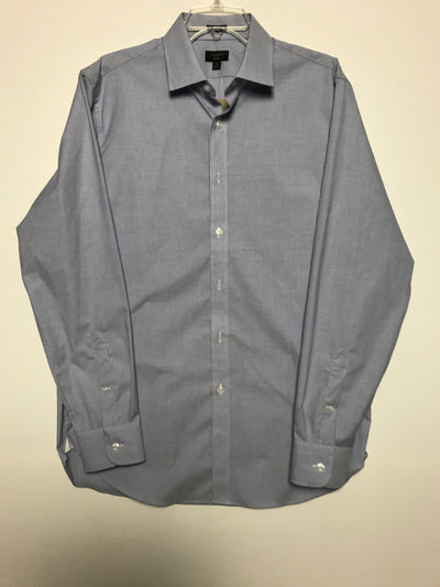 16H 35 Slim ludlow stretch two-ply easy-care cotton dress shirt, J. Crew (L)