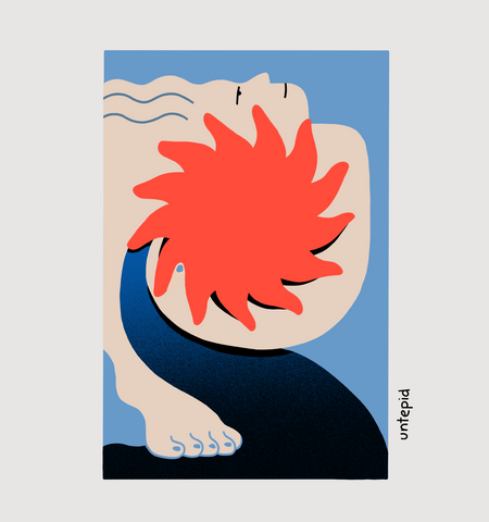 Image contains an energetic and active abstract illustration inspired by the Canary Islands.