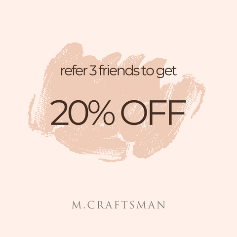 refer 3 friends to get 20% off